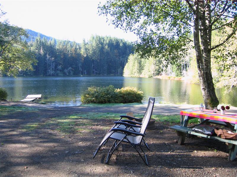 cowichan lake camping map Vancouver Island Campsites Kissinger Lake cowichan lake camping map